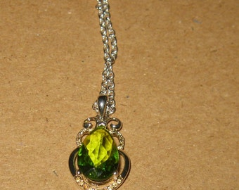 peridot pendant,   green necklace, peridot necklace,  pendant necklace