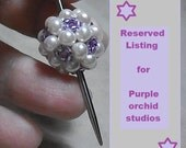 Reserved listing purple orchid studio