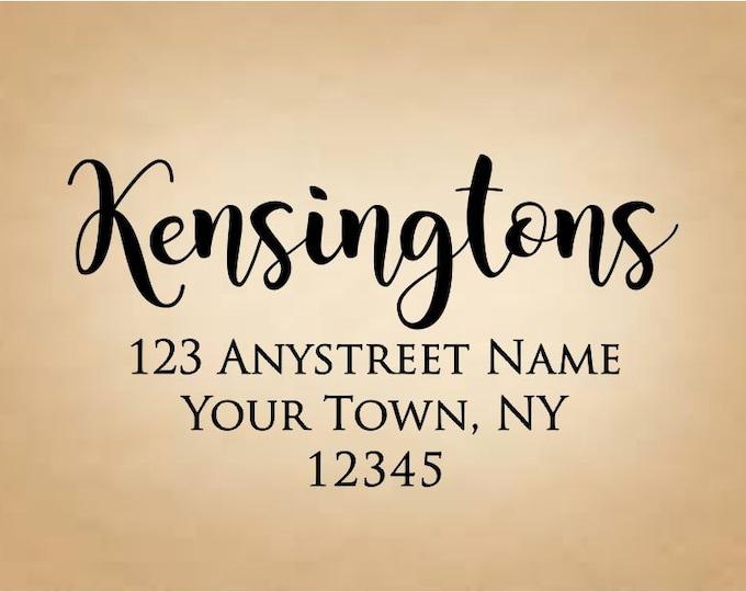 Personalized Self Inking Return Address Stamp - self inking address stamp - Custom Rubber Stamp R311
