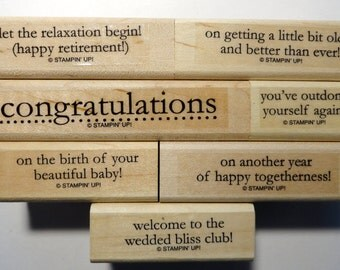 Stampin' Up! Rubber Stamp Congrats