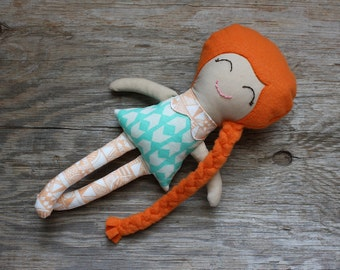 Ginger - Soft Doll - Rag Doll - Cloth Doll