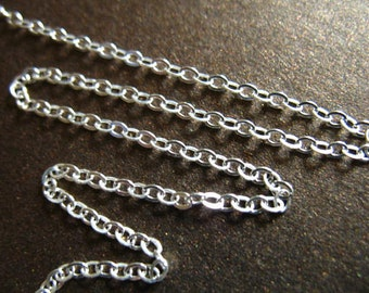 10-100 feet, Sterling Silver Chain by the Foot Bulk Chain, UPGRADE 1.7 mm Flat Cable, 10-40% Less Wholesale Chain ss s80 hp