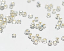 50 Grams Clear Glass Seed Beads 10/0  BD615