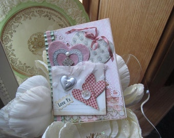 Love Card - Friendship Card - Shabby Chic Card