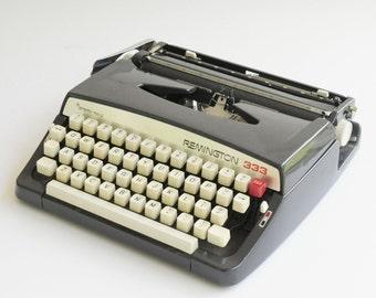 Vintage-Remington Rand- Gloss Black -Manual- Typewriter...SALE...was 136.00
