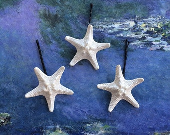 Starfish Bobby Pins - Pearly Stars