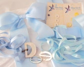 Lovely Vintage Ribbons Buckles Buttons - Pale Blues