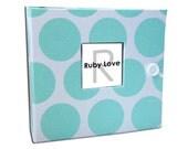 BABY BOOK | Mint Dot Album - Ruby Love Baby Memory Book