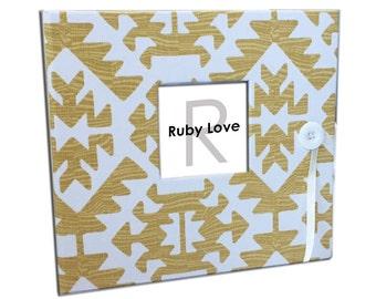 BABY BOOK | Yellow Pawnee Tribal Baby Book | Ruby Love Modern Baby Memory Book