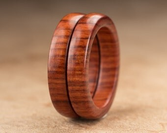 Size 6 - Stacking Mopani Wood Rings No. 129