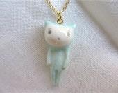 Petit Cat Pendant-light blue
