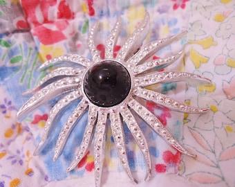 Vintage Emmons Retro Classic Sunburst Brooch Pin