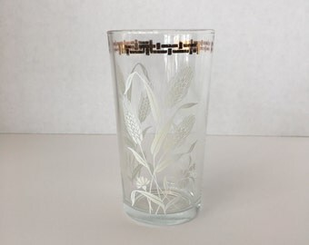 Wheat Glass with Gold Trim