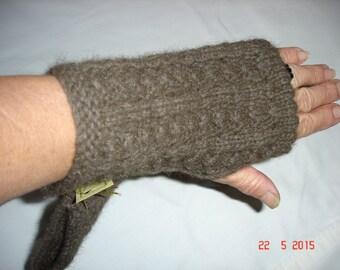 Luxurious possum/merino fingerless gloves
