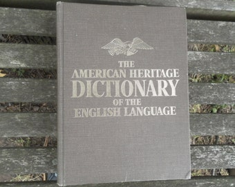 The American Heritage Dictionary of the English Language vintage 70s
