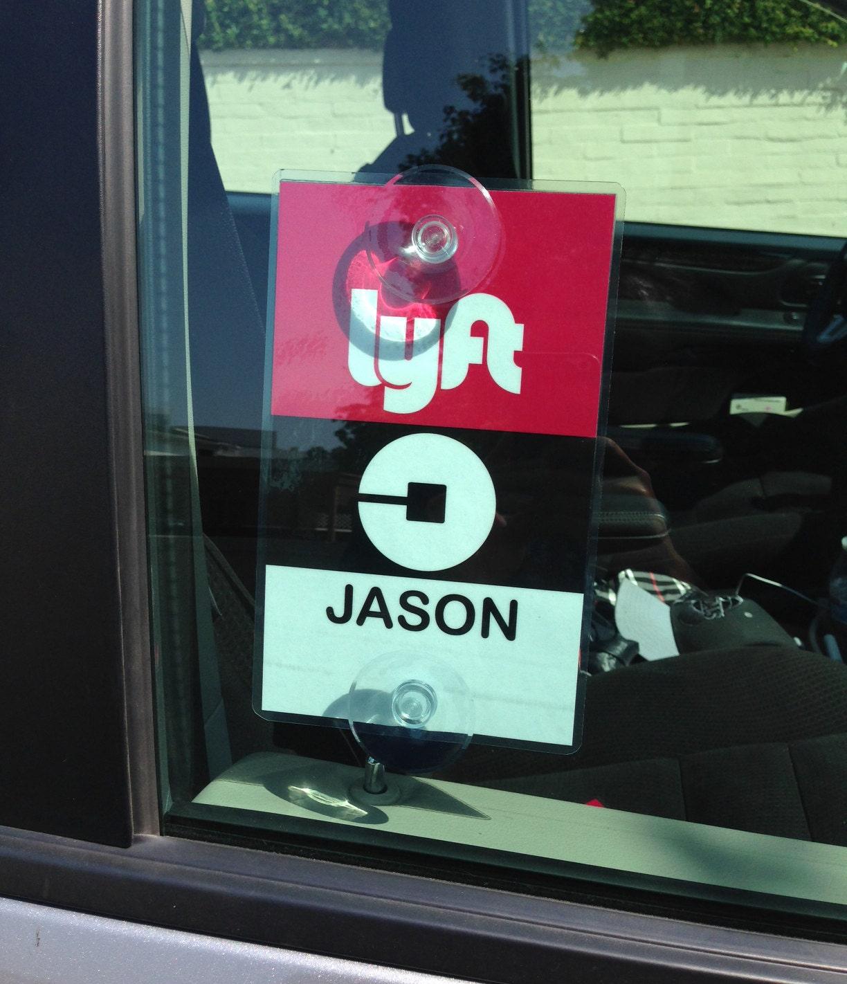 uber lyft decal sign rideshare car display cards by alvinsiki. Black Bedroom Furniture Sets. Home Design Ideas