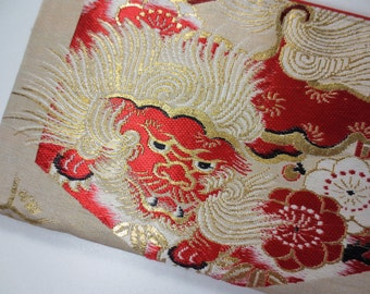 iPad mini / Tablet Case Made From Vintage Obi - Lion Dog