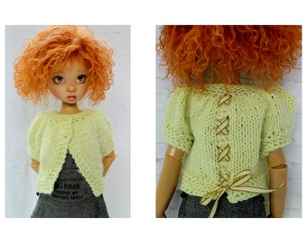 Hand knitted cotton Summer sweater for MSD or SD Kaye Wiggs dolls