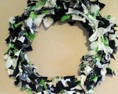 Seattle Seahawks Christmas wreath   made and ready to ship