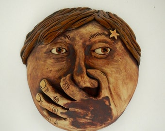 Stinky Mask-Bathroom Decor-Ceramic mask