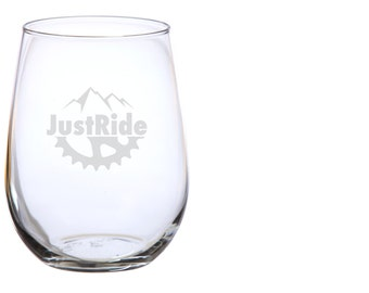 Just Ride Wine Glass