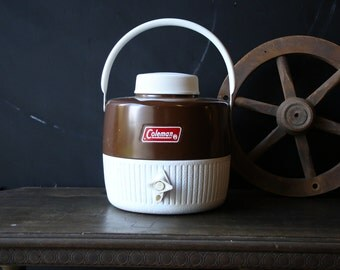 Coleman Water Cooler Jug Camping Glamping Sports Team Vintage Find From Nowvintage on Etsy