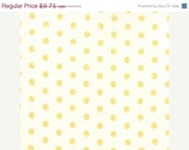 End of the Year SALE Whitewashed by 3 sisters for Moda Faded dots in yellow