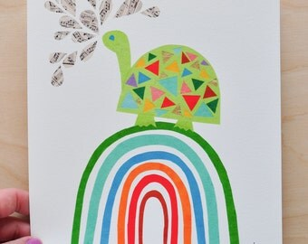 Mr. Turtle - Rainbow Collection - 8x10 Fine Art Print by Megan Jewel