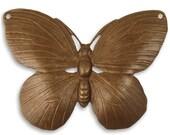 1 Piece Butterfly Pendant, Brass Lunarfly by Vintaj P0031,