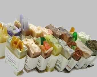 Handmade Cold Process Soap Sampler. U choose 25 guest soap samples, Goat Milk,party favors, shower,wedding favors.Artisan Soap-Free Shipping