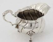 Cream Jug - Antique Sterling Silver Cream Jug - Hallmarked Chester 1911