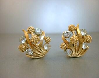 Trifari Rhinestone Earrings