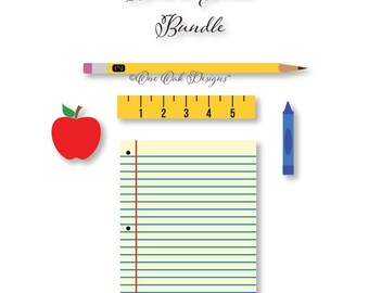 Back to School SVG File PDF / dxf / jpg / png / eps / ai / for Cameo for Cricut Explore & other electronic cutters