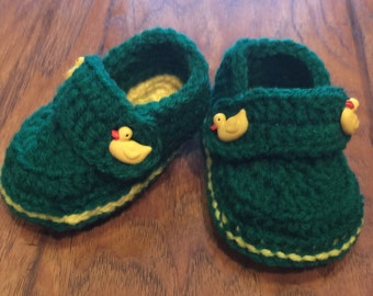 Oregon Ducks baby booties made to order