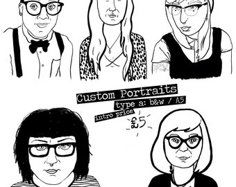 custom black & white portraits (digital copy)