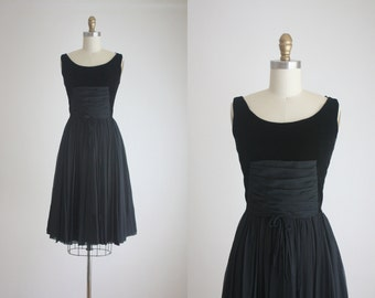 1960s twilight party dress