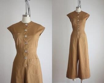 1940s SWEET-ORR amber twill jumpsuit