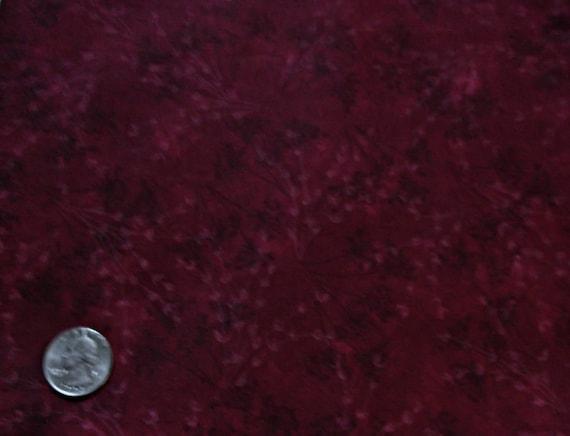 Burgundy Fabric Maroon Fabric Merlot Cotton Wine Textile Quilt