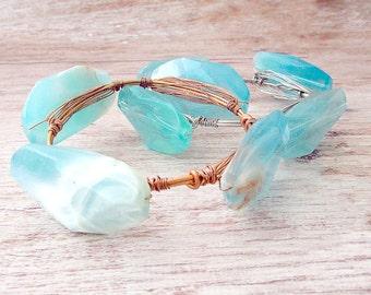 Boho Stacking Bangle, Bangle Stacking Bracelet, Boho Stacking Bracelet, Layering Bracelet, Wire Wrapped Bangle, Boho Jewelry, Bohemian Cuff