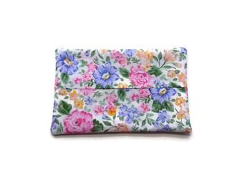 Fabric Flower Tissue Holder -  Flowers