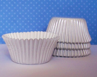 MINI White Foil Baking Cups- Candy Liners- Choose Set of 50 or 100