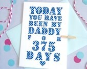 Days You've Been My Daddy Card – Personalised Father's Day Card – Card for Daddy – birthday card for Daddy – Christmas card for Daddy