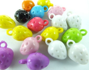 17 pcs 19 mm x 9 mm , Plastic Beads , Mixed Color beads , Lucite beads ,  Lucite Beads ...Findings