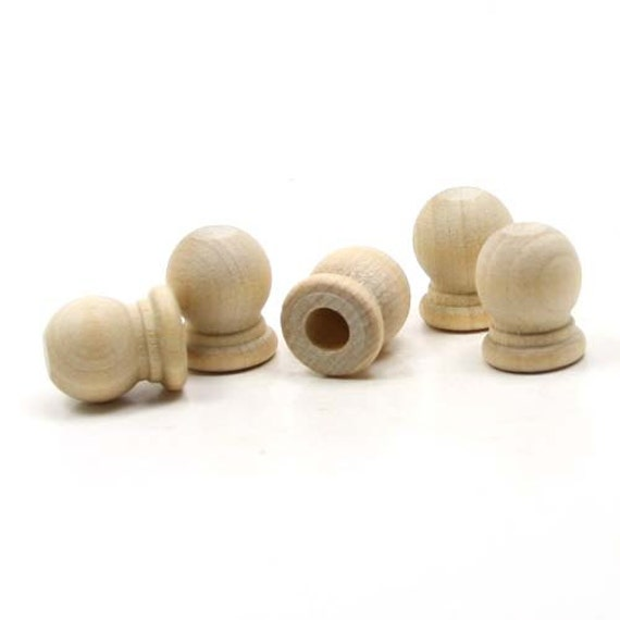 Unfinished Wood Finial Dowel Cap End 3 4 X By