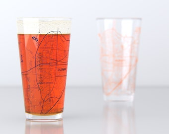 Auburn, AL - Auburn University - College Town Pint Glasses