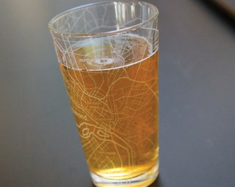 Richmond Map Pint Glass