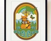 Owl & The Pussycat print poster