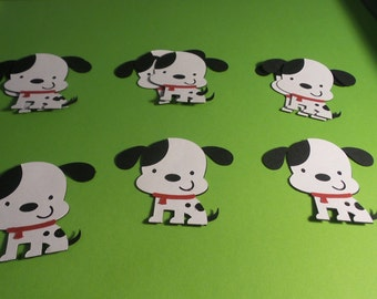 Puppy Die Cuts,Puppy party,Puppy decorations,dog die cuts,party tags,cupcake toppers