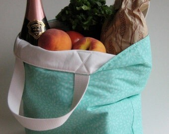 mint tote bag,grocery bag, library bag