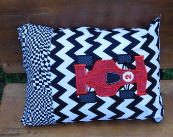 Red Indy Race Car travel pillow PILLOW and COVER